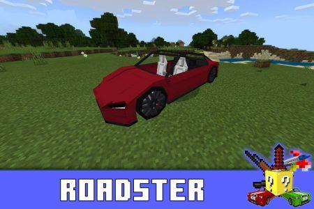 Roadster в моде на Тесла в Майнкрафт ПЕ