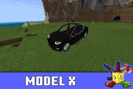 Model X в моде на Тесла в Майнкрафт ПЕ