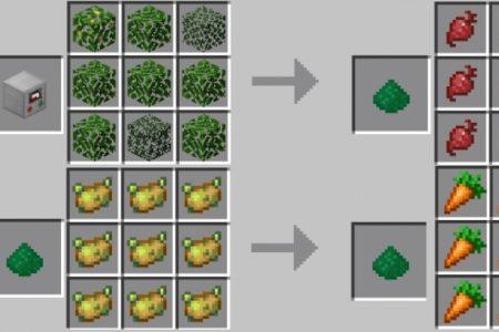 Крафт органического вещества в Майнкрафт ПЕ