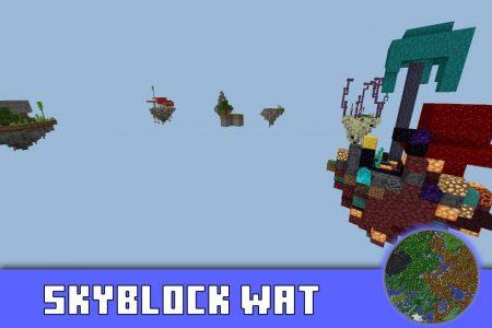 Карта Skyblock Wat в карте Скай Блок в Minecraft PE