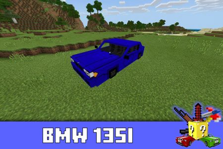 BMW 135i в моде на БМВ в Minecraft PE