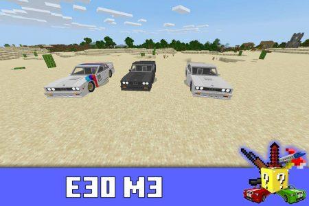 BMW E30 M3 в моде на БМВ в Minecraft PE