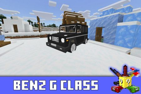Benz G Class в моде на Мерседес в Minecraft PE