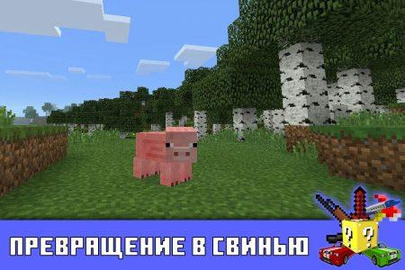 Превращение в свинью в Майнкрафт ПЕ