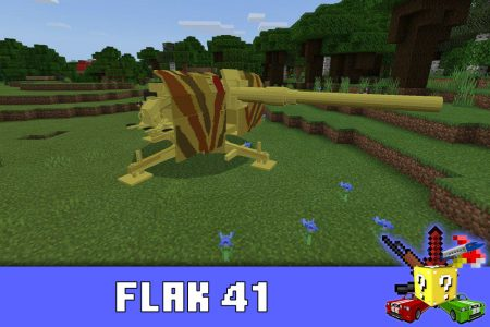 Flak 41 в моде на оружие Второй мировой в Minecraft PE