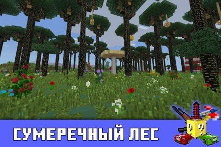 Сумеречный лес в Minecraft PE