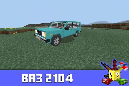 ВАЗ 2104 в моде на жигули в Minecraft PE