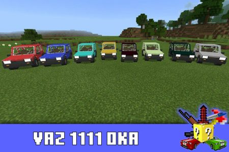 VAZ 1111 OKA в моде на Ладу для Minecraft PE